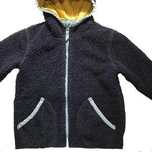 Boden Shaggy Zipped Jacket, Sz 4-5